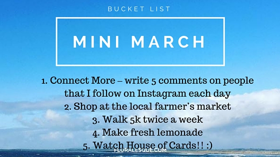 Mini-March Bucket List Floralesque list