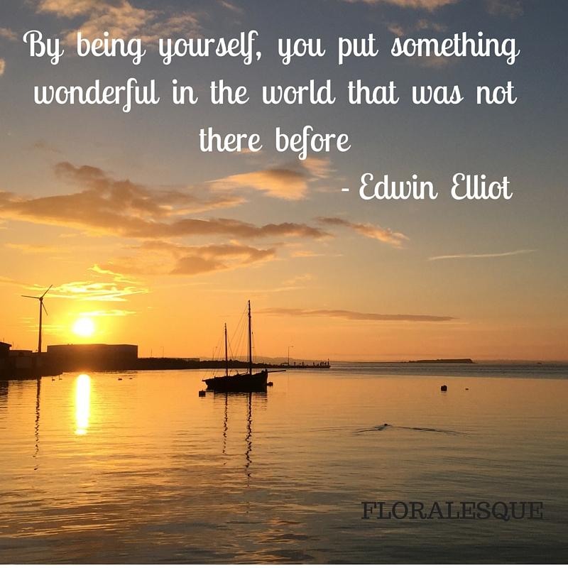 Edwin Elliot Quote Floralesque