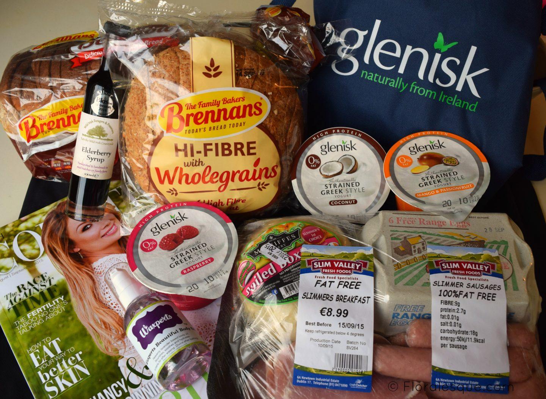Foodie Goodie Bag, Glenisk, Brennans Bread, Slim Valley Fresh Foods