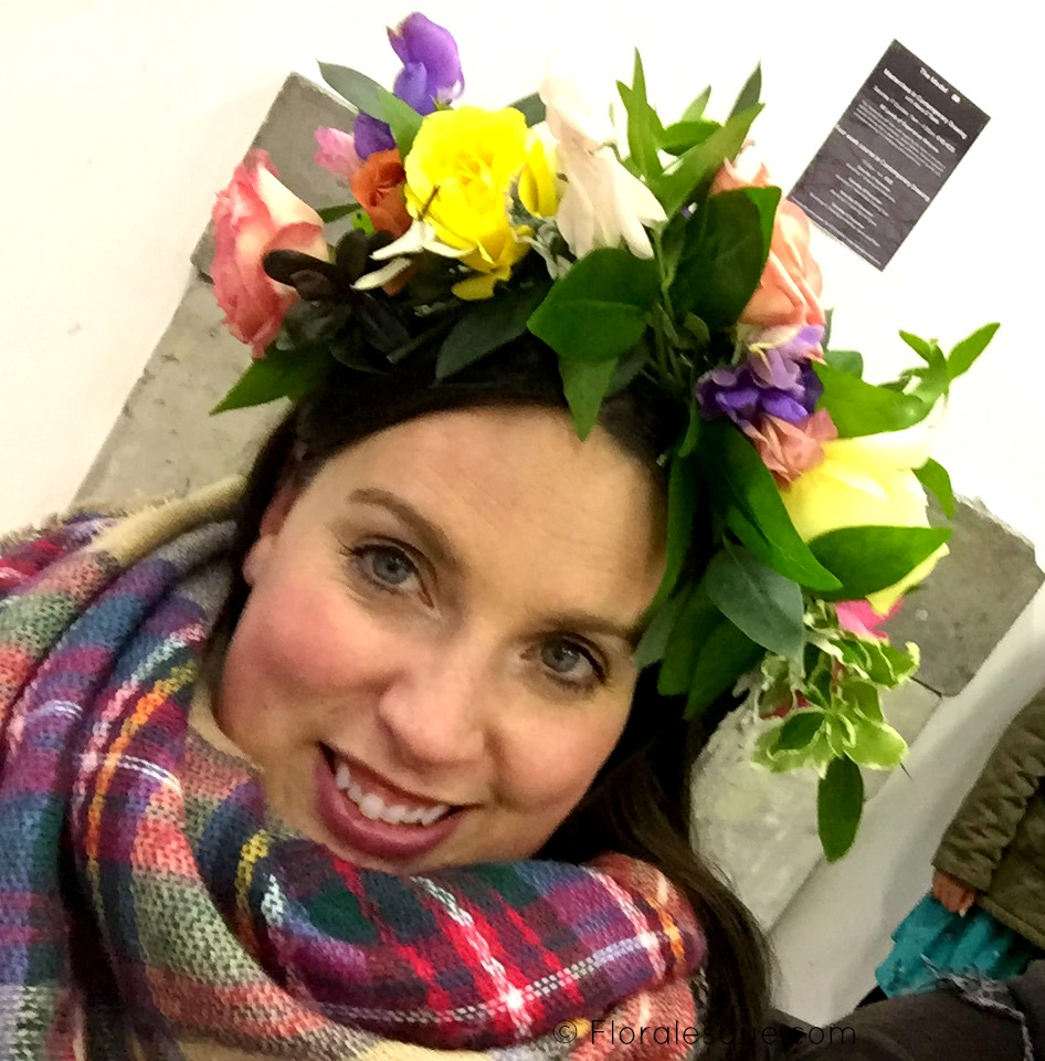 Space to Grow Flower Crown Workshop. Sligo Design Week. Floralesque