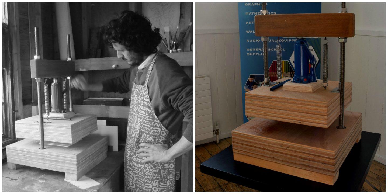 Lino Printing Workshop with Ian Jermyn for Sligo Design Week 2015. ID2015