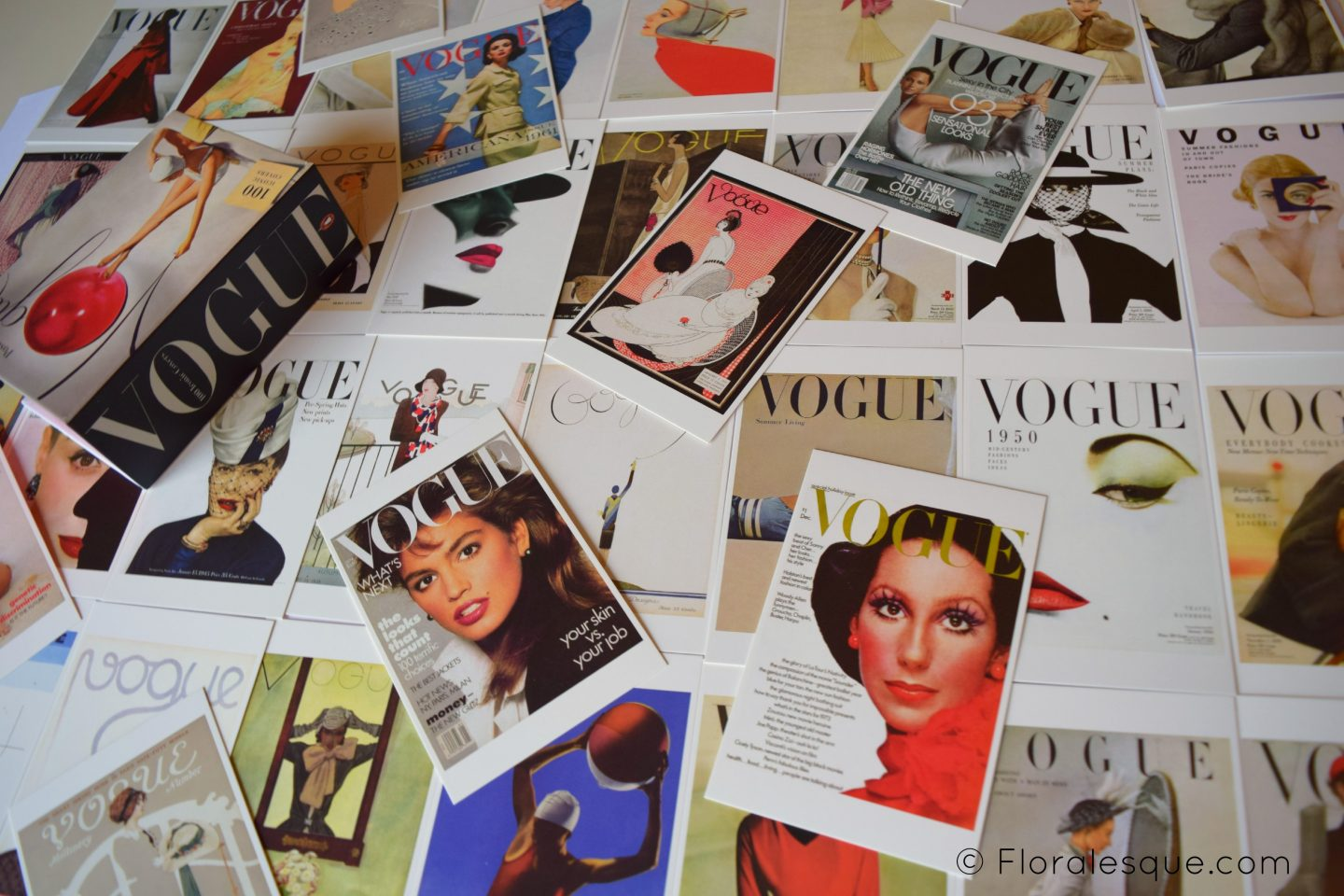 Postcards from Vogue - 100 Iconic Covers Compiled by - Vogue editors Floralesque