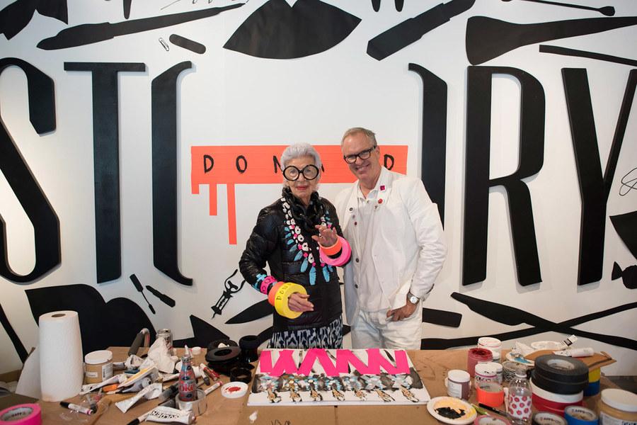 Donald Robertson and Iris Apfel
