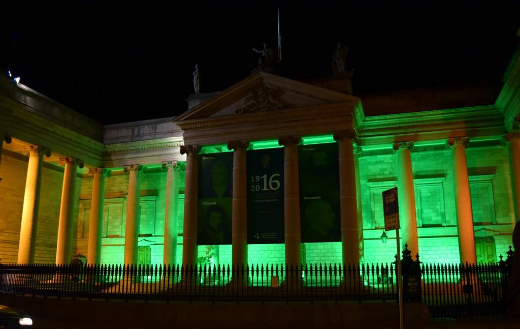 Dublin goes Green Floralesque irish parliment house