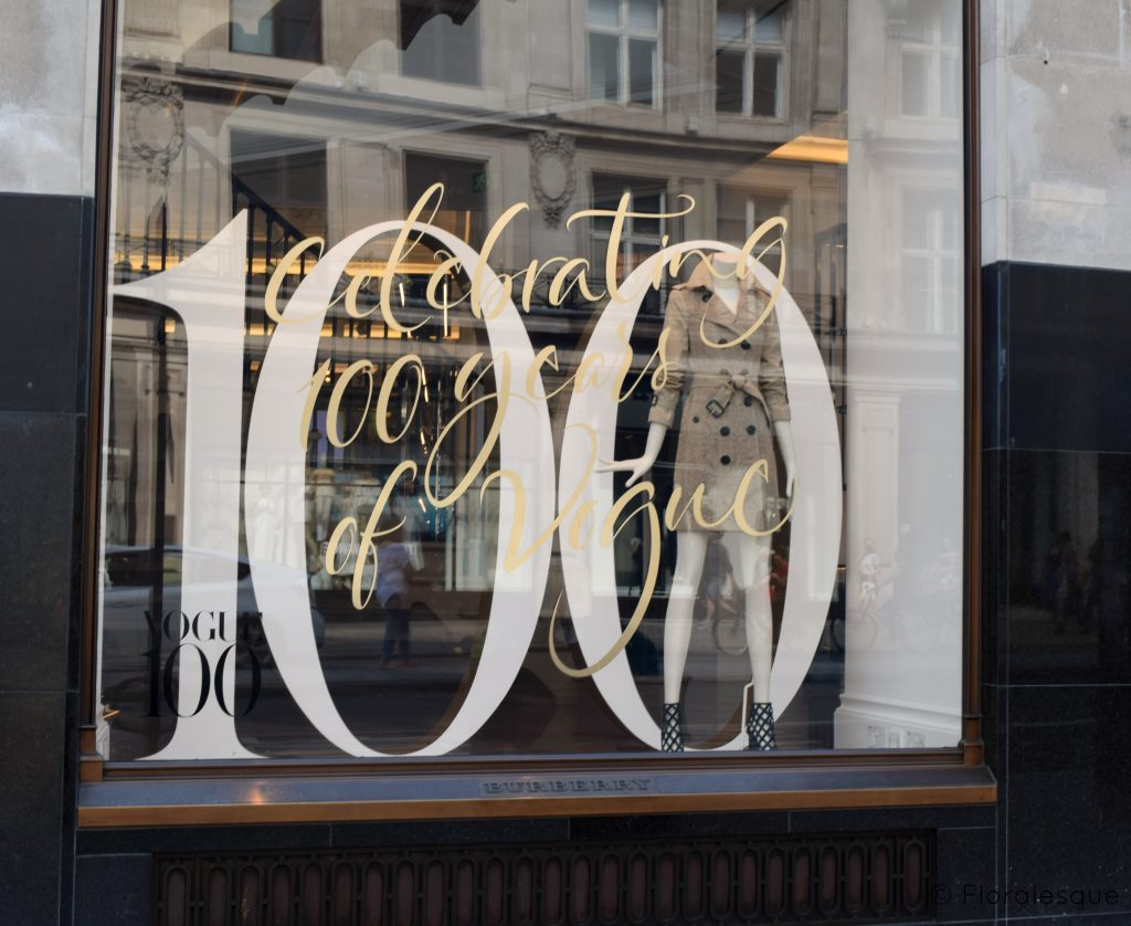 Retail Stores Celebrating Vogue's 100 Year Anniversary Floralesque 3