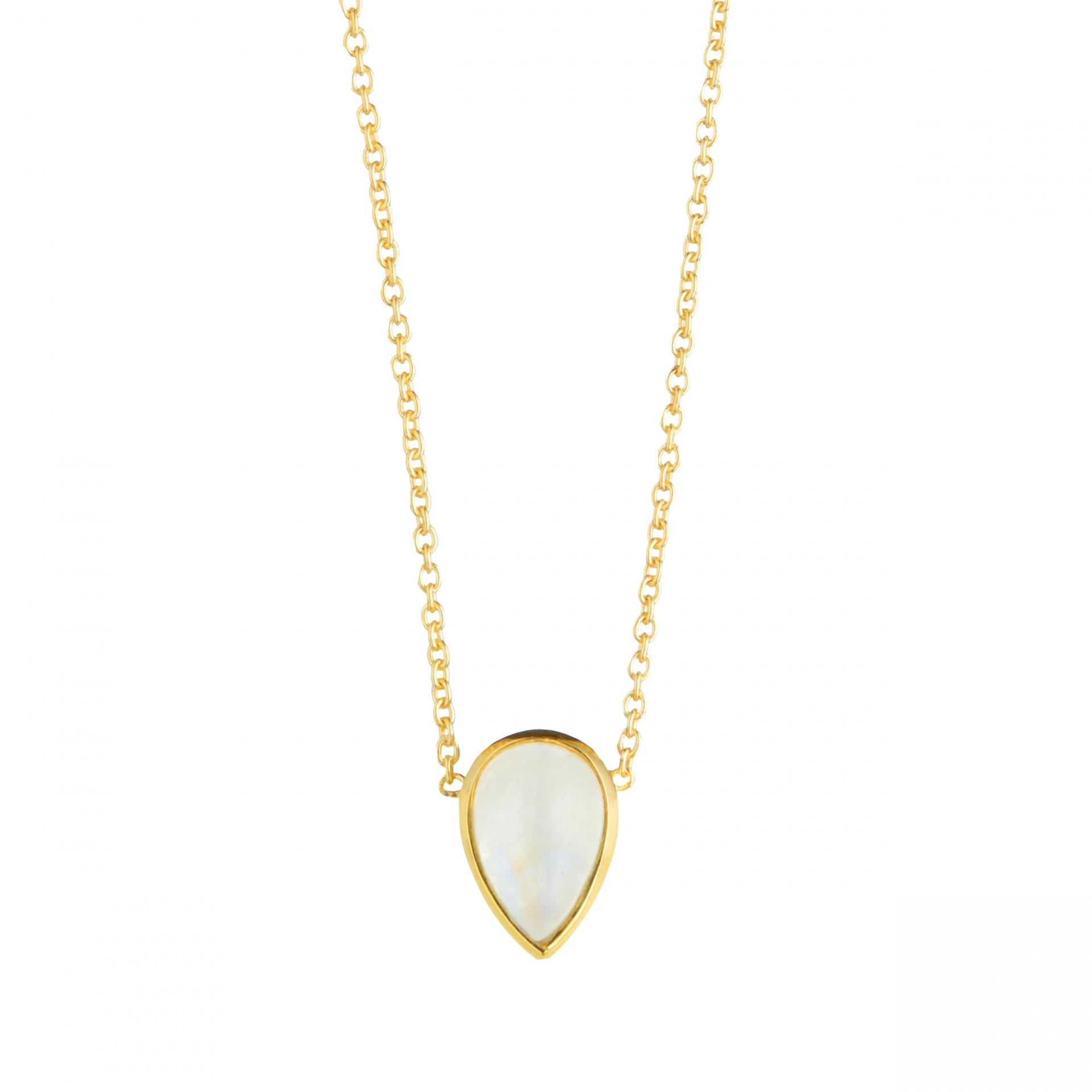 Juvi Designs Seadrop Pendant in Gold Vermeil and Moonstone