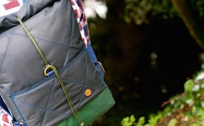The Atlantic Equipment Project AE Waxed Rolltop, Navy & Forest