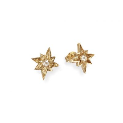 CHUPI I'D BE LOST WITHOUT YOU STUD EARRINGS IN GOLD