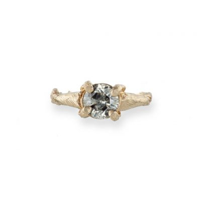 CHUPI SOLID GOLD SPARKLE IN THE WILD GREY DIAMOND ONE CARAT RING