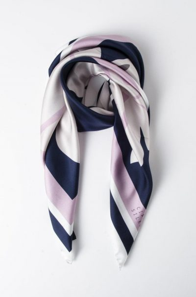CIARA SILKE AFRICAN IRIS IN NAVY, BABY PINK, AND WHITE
