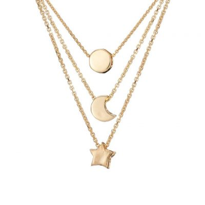 Chupi SOLID GOLD YOU ARE MY SUN, MY MOON & ALL OF MY STARS NECKLACE SET