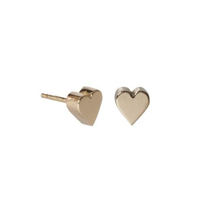 Edge Only 3D Heart Earrings in 14ct Gold