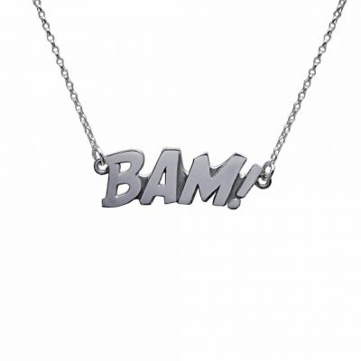 Edge Only BAM Letters Necklace Large