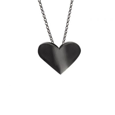 Edge Only Black Heart Necklace