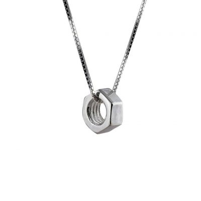 Edge Only Hex Nut Pendant Large (Long)