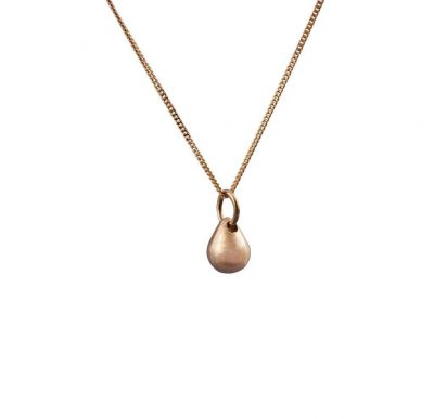 Edge Only Teardrop Pendant Small in 14ct Gold