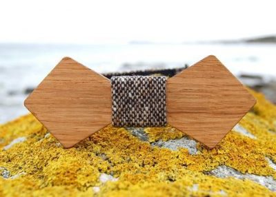 Fiain 'BOND' IRISH OAK BOW TIE IN COLOUR BURREN TWEED