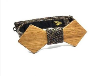Fiain 'BOND' IRISH OAK BOW TIE IN COLOUR CLADDAGH TWEED