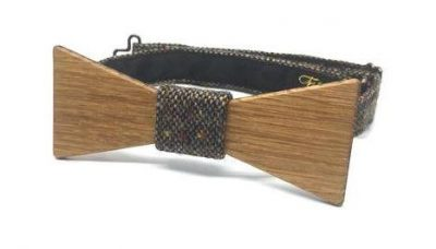 Fiain 'CARLTON' IRISH OAK BOW TIE IN COLOUR CLADDAGH TWEED
