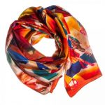 Hazel Greene Large Printed Scarf Postcards