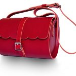Lovern Leather Goods - Red Scallop barrel bag