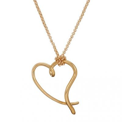Mairead deBlaca You have my heart large pendant in gold