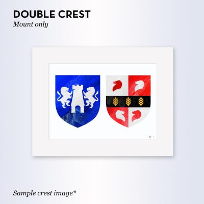 Painted Clans Double Crest – With Mount