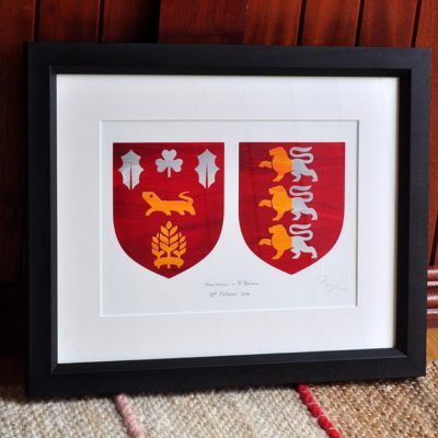 Painted Clans Double Crests – Framed