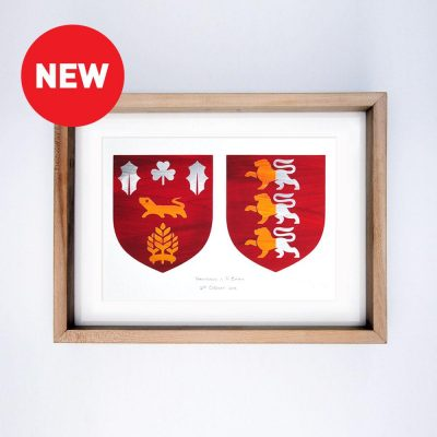 Painted Clans Double Crests – Wooden Frame 1