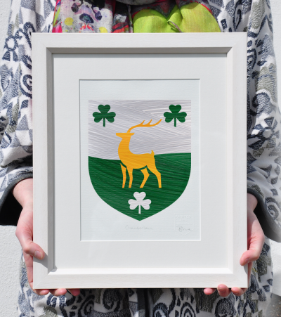 Painted Clans Single Crest – Framed