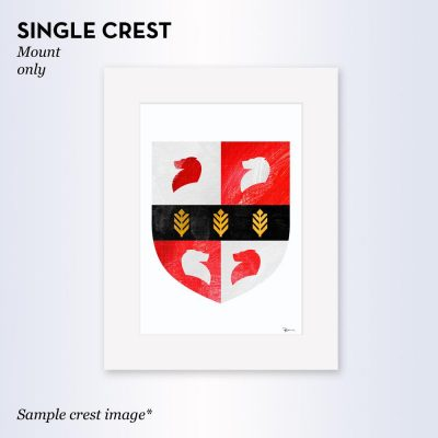 Painted Clans Single Crest – With Mount