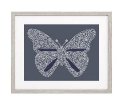 Petal to Petal Blue Butterfly Limited Edition Archival Giclee Print