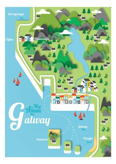 Reddin Designs Illustrated Map Of Galway