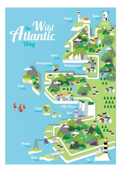 Reddin Designs West of Ireland Illustrated Map