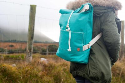 The Atlantic Equipment Project Sea Green Canvas Rolltop Backpack