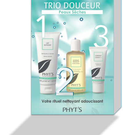 TRIO DOUCEUR – 3 STEPS FOR DRY SKIN