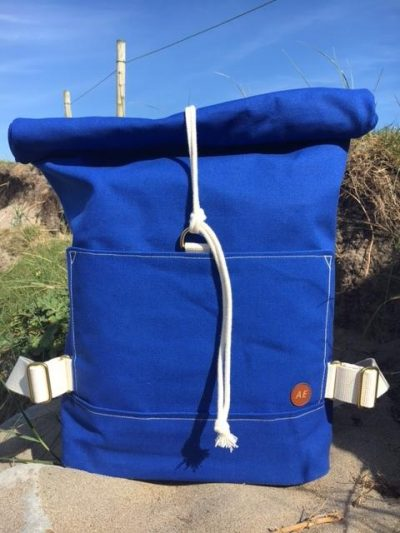 The Atlantic Equipment Project Summer Blue Canvas Rolltop Backpack