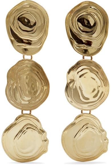 LEIGH MILLER On The Halfshell gold-tone earrings