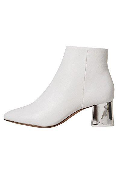 Mango Metallic heel leather ankle boots