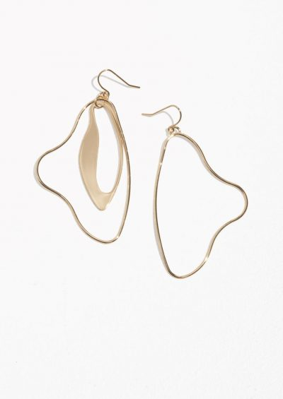 & Other Stories Sculptural Dangling Earrings