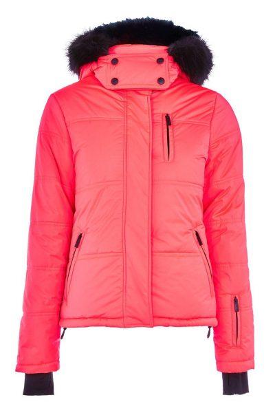 Pink Ski Puffer Jacket by Topshop SNO