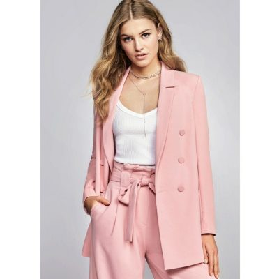 River Island Pink double breasted style blazer