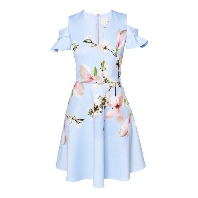 TED BAKER Effrae Harmony Cold Shoulder Dress