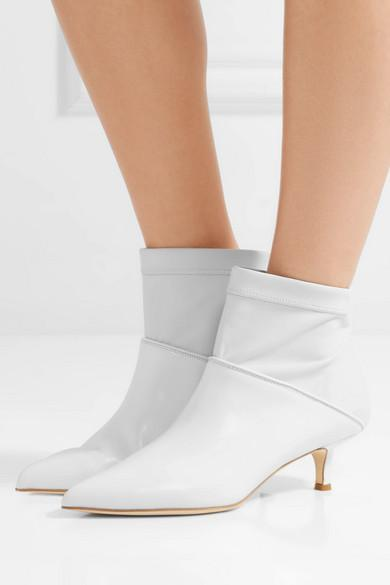 TIBI Jean leather sock boots