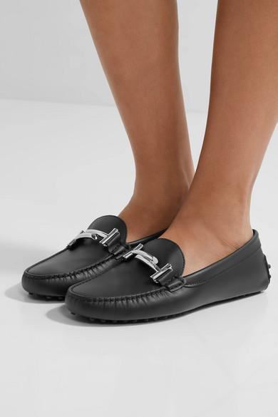 TOD'S Gommino embellished leather loafers