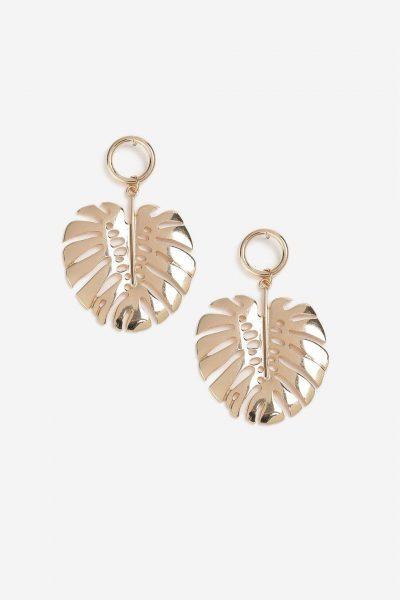 Topshop Flower and Petal Drop Earrings