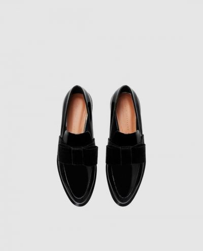 ZARA LOAFERS WITH VELVET BOW