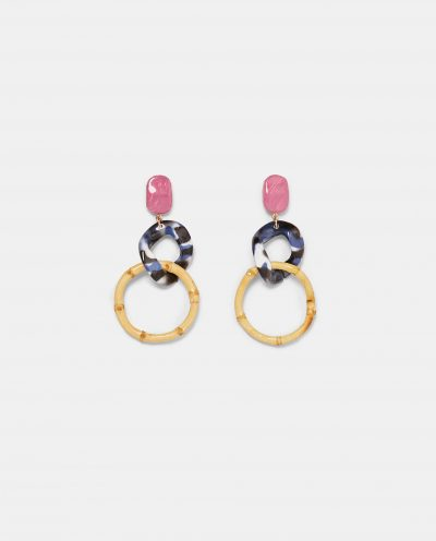 Zara RESIN DANGLE EARRINGS