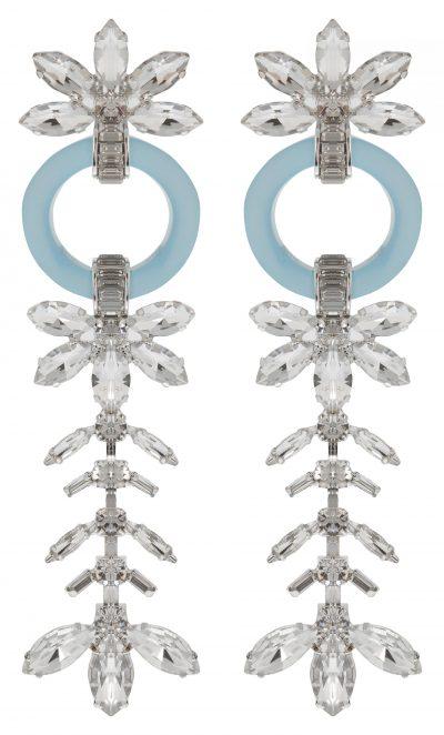 River Island Blue Holly Fulton jewel clip on drop earrings