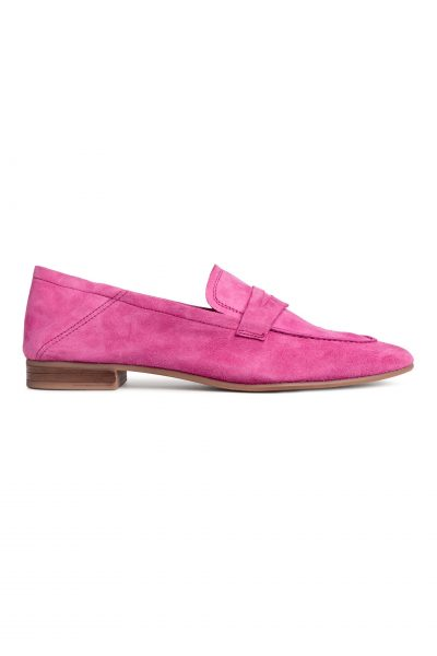 HM Pink Suede Loafers